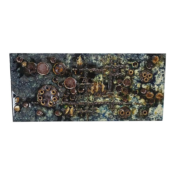 Mid-Century Helmut Friedrich Schäffenacker Ceramic Wall Plaque For Sale