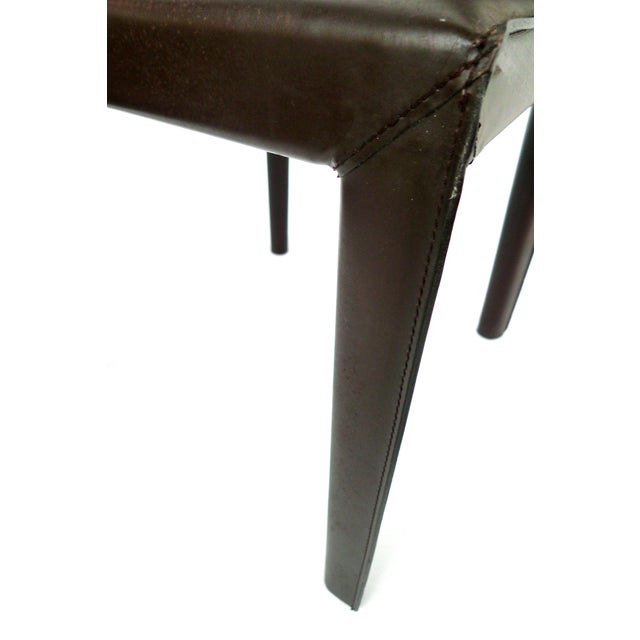 Bellini-Style Leather Side Chairs - A Pair - Image 9 of 9