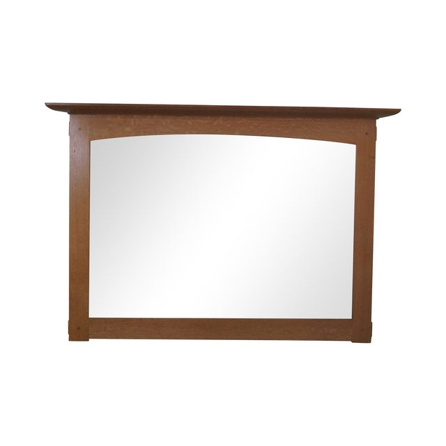 Stickley Mission Oak Natural Finish Wall Mirror - Image 1 of 10