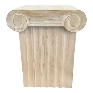 Ionic Column Form Wood Storage Cocktail Table With Removable Capital Top For Sale