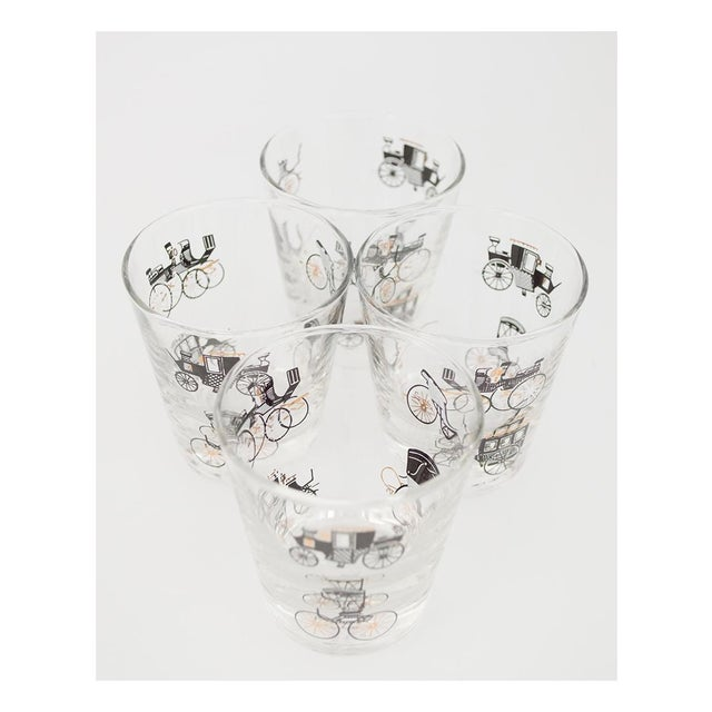 Libbey Curio/Carriage & Buggy Highball & Rocks Glasses - Set of 10 For Sale In San Francisco - Image 6 of 7
