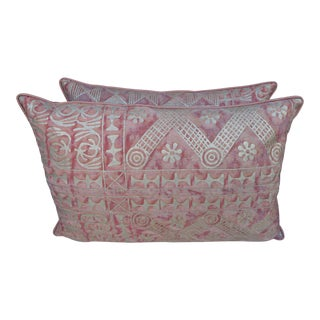Blush & Silvery Gold Fortuny Pillows-Pr