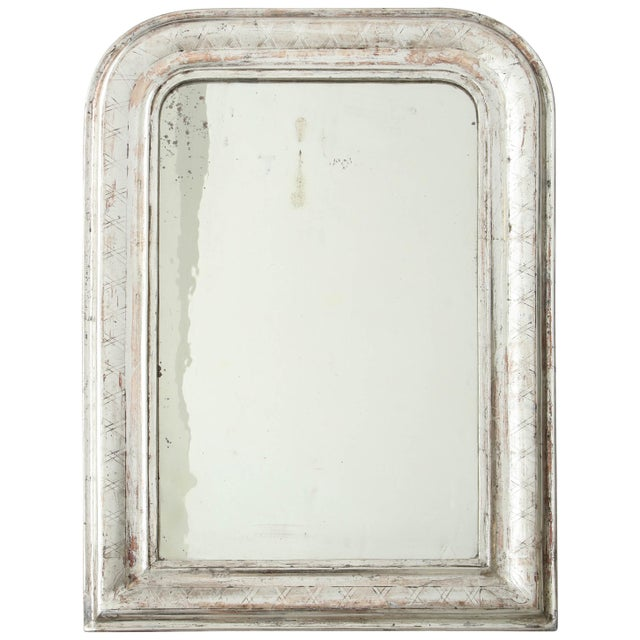 Louis Philippe Silvered Mirror For Sale - Image 9 of 9
