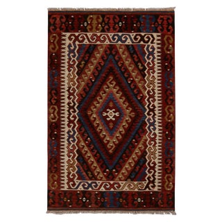 Vintage Fetiye Crimson Wool Kilim Rug - 2′8″ × 4′1″ For Sale