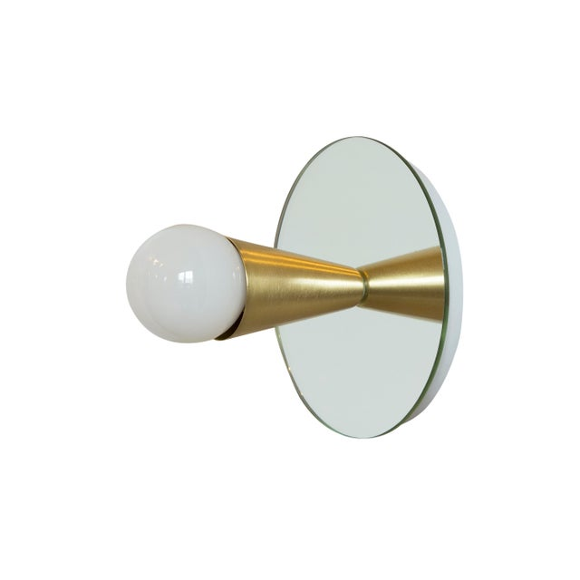 Echo 1 Sconce in Brass With Mirror-Backing by Souda For Sale In New York - Image 6 of 6