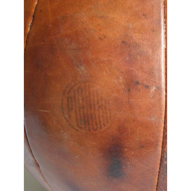 1950s Vintage leather medicine ball by Platura For Sale - Image 5 of 11