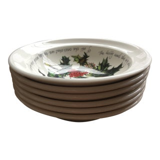 Portmeirion the Holly & the Ivy Soup / Cereal Bowls - Set of 6
