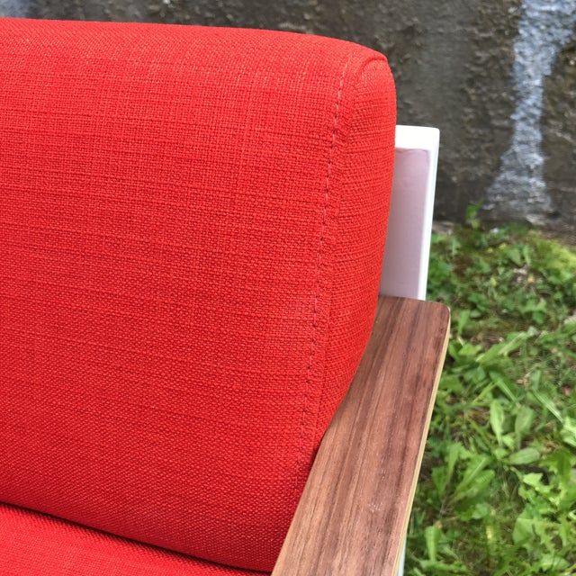 Red Gus Modern Halifax Chair Upholstered in Red For Sale - Image 8 of 11