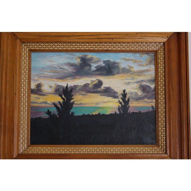 John De Ponce Hawaiian Sunset Landscape Painting - Image 5 of 11