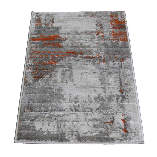 Orange Abstract Rug - 1′8″ × 2′6″ - Image 1 of 2