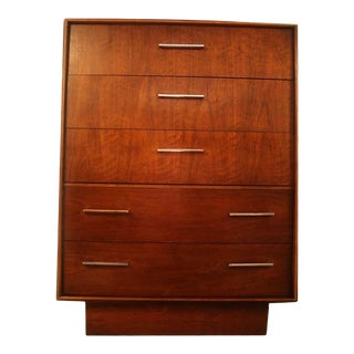 Vintage Mid Century Lane Tallboy Highboy Dresser For Sale
