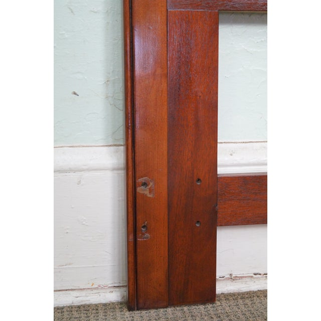 Cherry Wood Drexel Heritage Queen Size Cherry Chippendale Style Headboard For Sale - Image 7 of 10