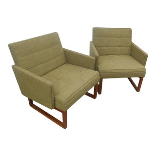 1960's Mid-Century Danish Modern Adrian Pearsall Style Lounge Chairs by Gunlocke For Sale