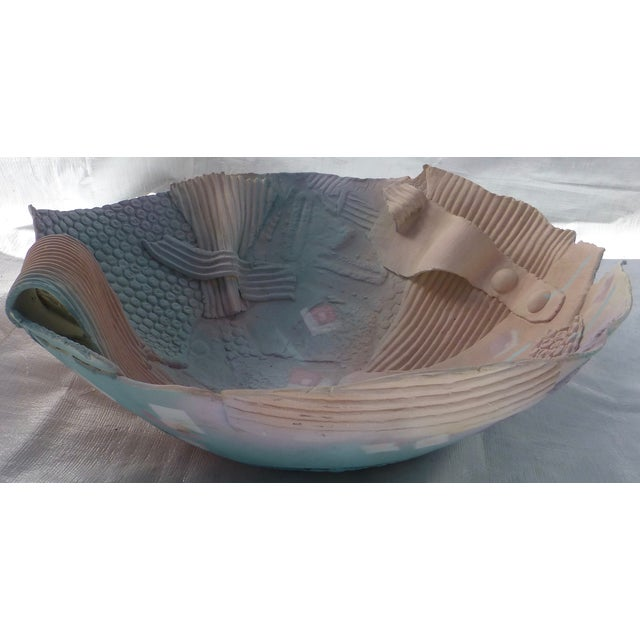 1980s Memphis-Style Pottery Bowl - Image 4 of 11