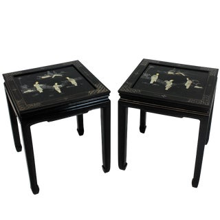 Pair of Japanned Side Tables