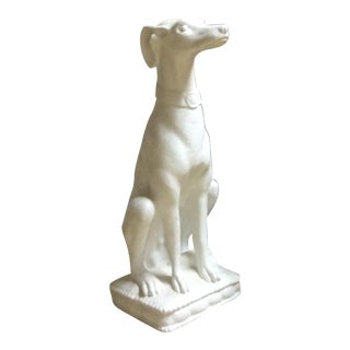 White Whippet Statue For Sale