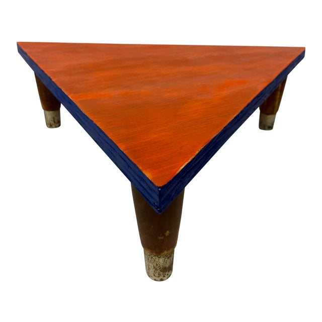 Reclaimed Wood Triangle Low Table For Sale