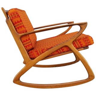 """Danish Modern Style """"Z"""" Rocking Chair, 1950s For Sale"""