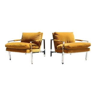 Maurice Villency for Thayer Coggin Lounge Chairs- a Pair For Sale