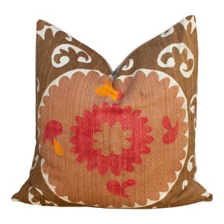 Manali Suzani Square Pillow For Sale