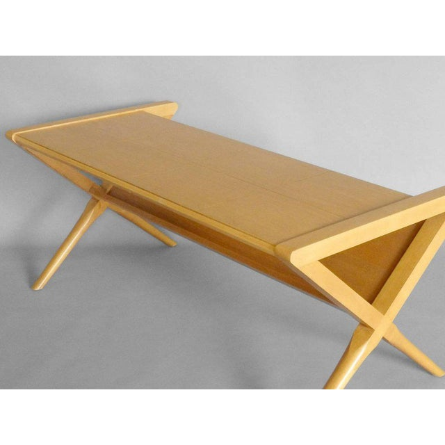 small scale magazine stand blonde coffee table - Small Scale Coffee Tables