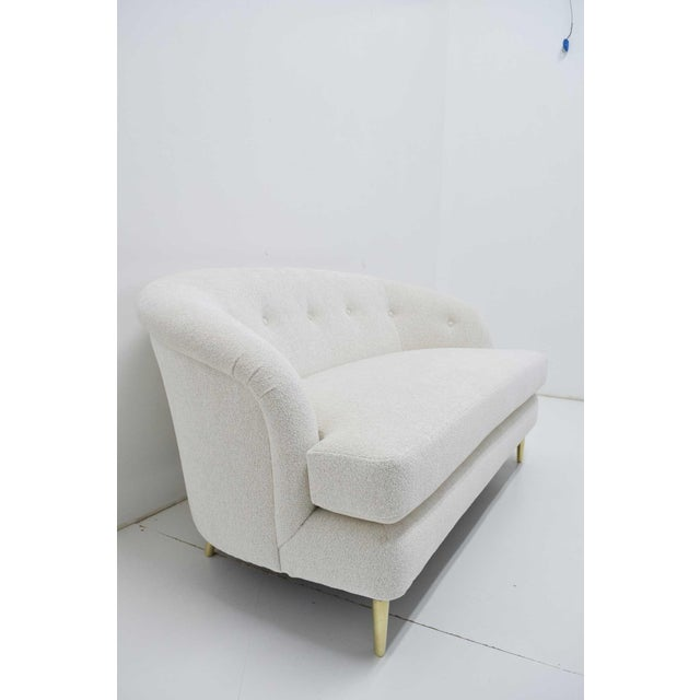 1950s Edward Wormley for Dunbar Short Sofa Model 5406 For Sale - Image 5 of 13