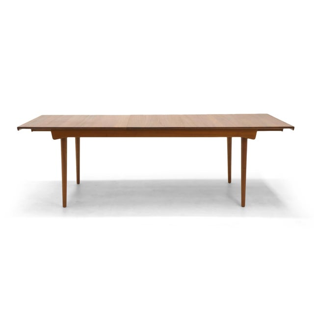 Finn Juhl Teak Dining Table, Expandable with Two Leaves, Exceptional Condition - Image 4 of 11