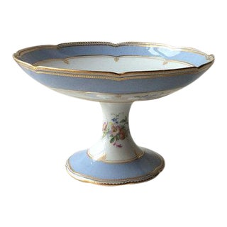 Antique French Porcelain Footed Compote For Sale