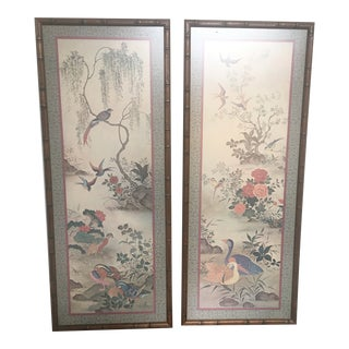 Vintage Japanese Rtv Framed Paper Prints - a Pair For Sale