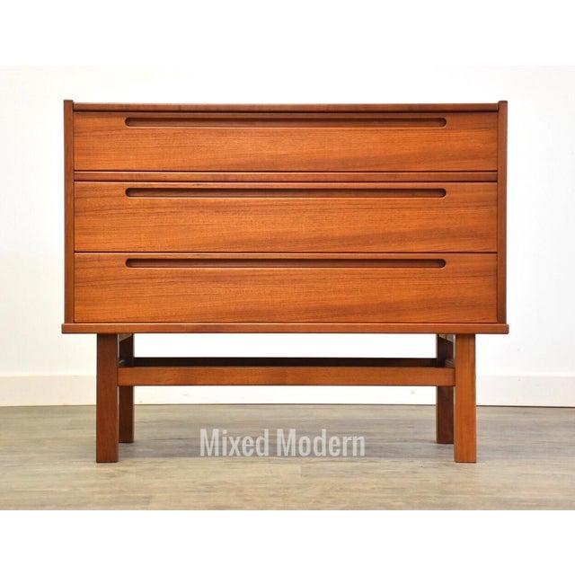 Mid-Century Modern Nils Jonsson Teak Vanity Dresser For Sale - Image 3 of 11