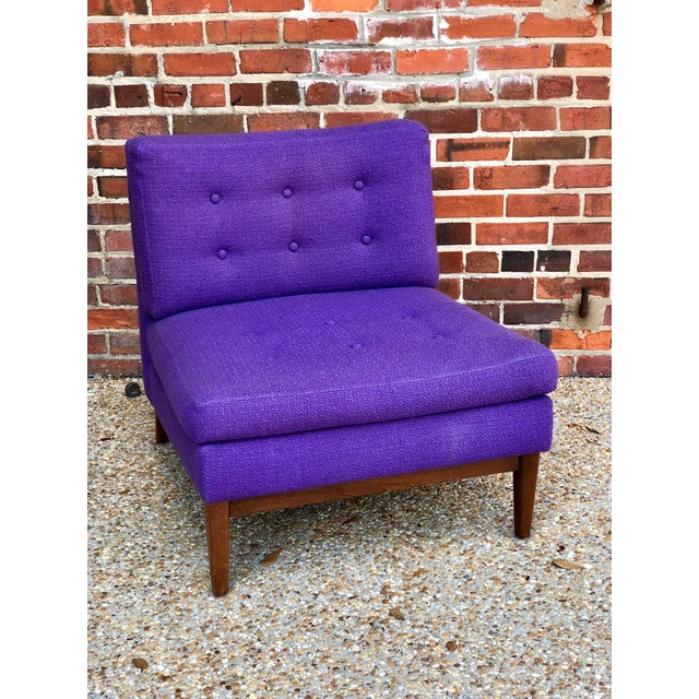 2cac7b6b554b2 Mid Century Purple Lounge Chair For Sale - Image 6 of 6