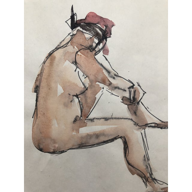 1950s Abstracted Seated Female Nude by Stanley Brodey, 1950s For Sale - Image 5 of 5