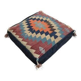 Handmade Kilim Rug Floor Cushion Pillow Cover - 24″ X 24″