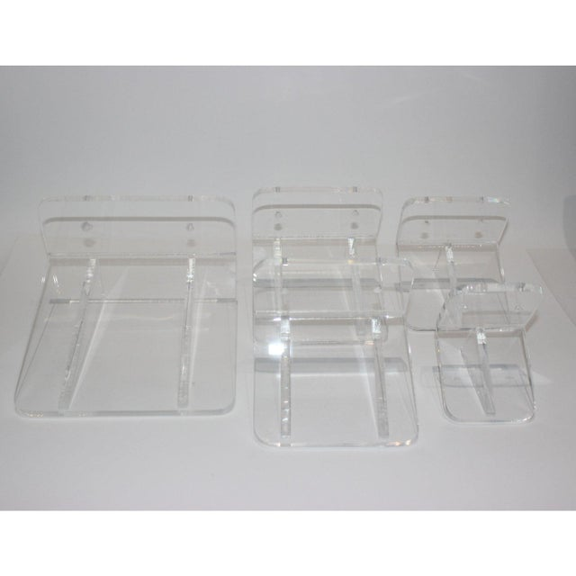 Modern Collection of Lucite Wall Brackets - Set of 6 For Sale - Image 3 of 12