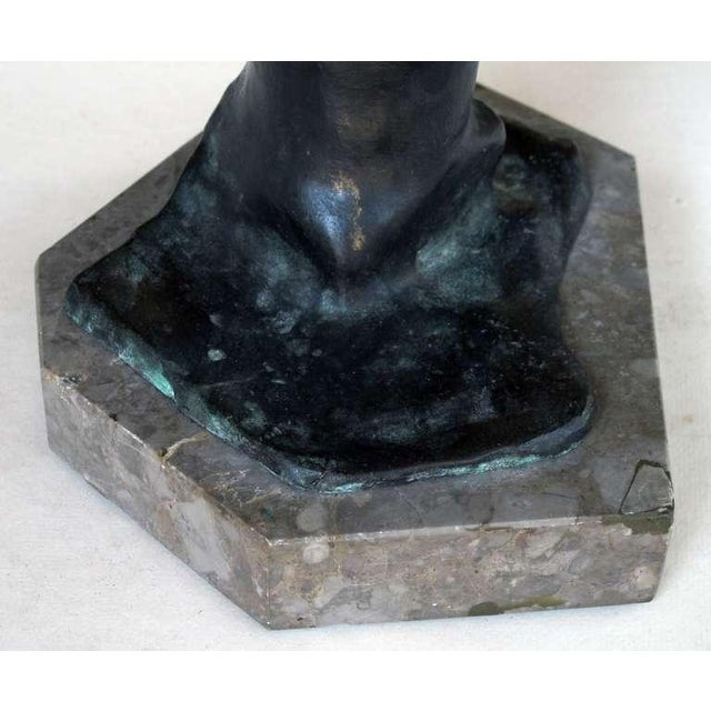 Bronze A Playful Italian Grand Tour Bronze Figure of a Young Male Athlete; Signed 'Gerente' For Sale - Image 7 of 8