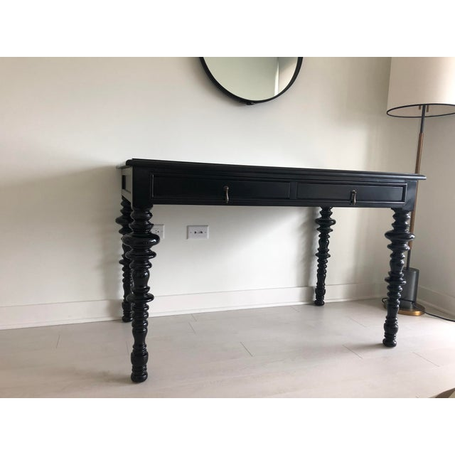 2010s Noir Furniture Ferret Black Secretary Desk For Sale - Image 5 of 8