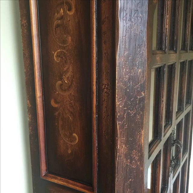 Traditional Wooden Armoire with Beveled Glass - Image 4 of 5