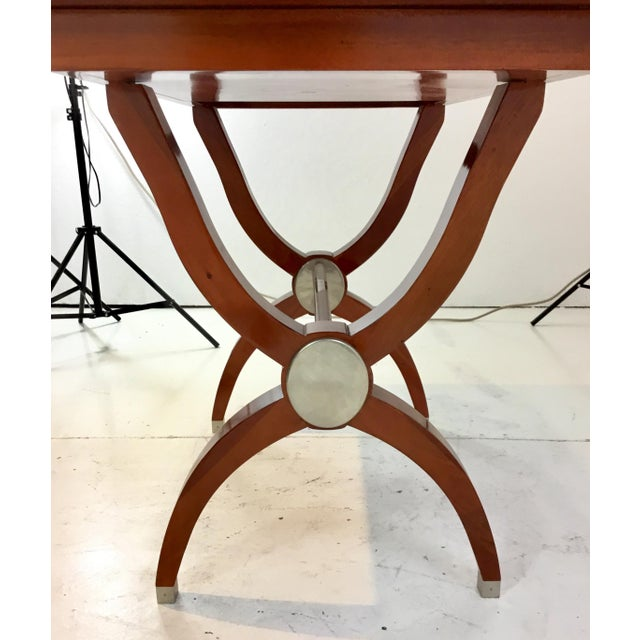 Global Views Modern Mahogany Console Table For Sale - Image 4 of 7