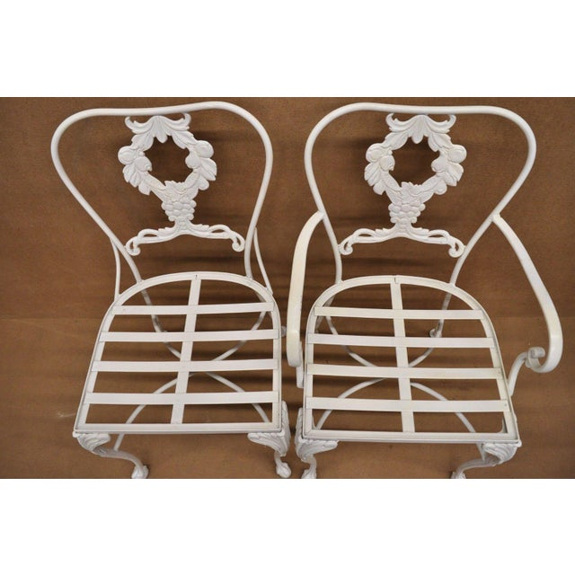 20th Century Victorian Cast Aluminum Patio Dining Set - 7 Pieces For Sale In Philadelphia - Image 6 of 13