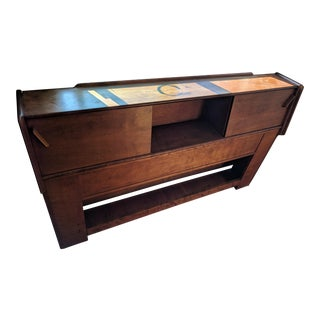 Conant Ball Mid-Century Modern Walnut Headboard For Sale