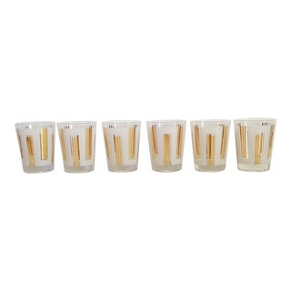 Mid Century Old Fashioned Cocktail Glasses-Set of 6 For Sale