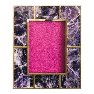 Amethyst Photo Frame by Fabio Ltd For Sale