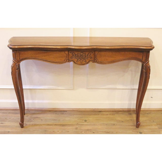 1970s Vintage Thomasville French Country Style Console Table For Sale - Image 13 of 13