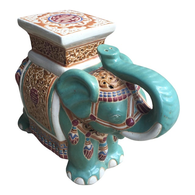 Chinoiserie Elephant Garden Stool For Sale