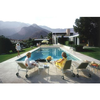 Framed Original Slim Aarons Poolside Gossip Photographic Print For Sale