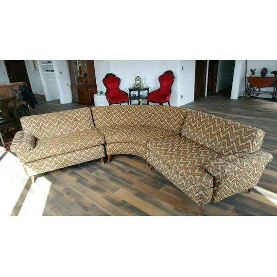 Kroehler 1960s Vintage Mid-Century Modern Kroehler Sectional Sofa - 3 Pieces For Sale - Image 4 of 5
