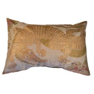 Alligator Sateen Linen Pillow For Sale