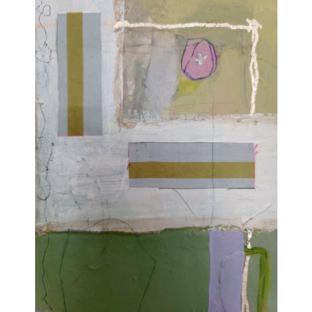"""""""All of Space and Time Together"""" Contemporary Abstract Mixed-Media Painting by Mary Kaiser For Sale - Image 4 of 5"""