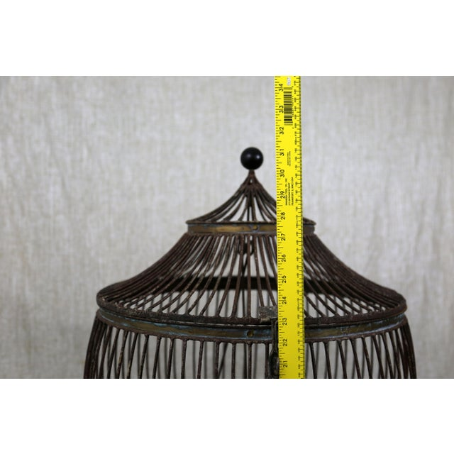 Vintage Pagoda Bird Cage For Sale - Image 9 of 11
