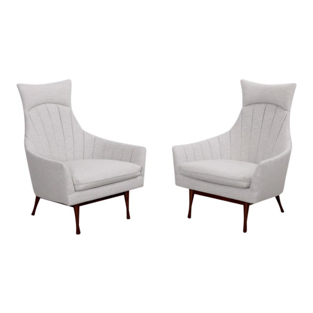 Pair of Paul McCobb Symmetric Group Lounge Chairs by Widdicomb For Sale